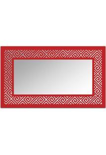 Espelho De Parede 12879V Vermelho 70X110 Art Shop