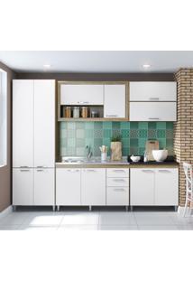 Cozinha Compacta La Paz 12 Pt 3 Gv Argila, Branco E Preto