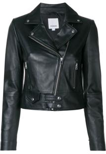 Pinko Fitted Biker Jacket - Preto