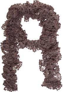 Echarpe Fiveblu Crochê Cinza