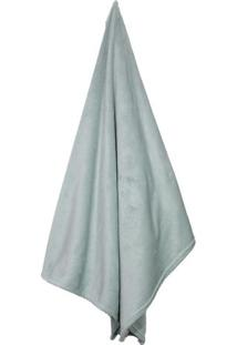 Cobertor Flannel Loft Queen Size- Azul Claro- 220X24Camesa