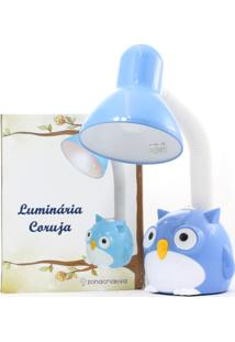 Luminaria Flexivel Coruja Azul