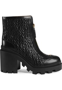 Gucci Ankle Boot G Rhombus - Preto
