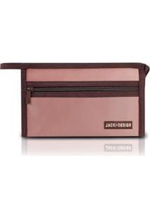Necessaire Envelope Jacki Design Microfibra - Unissex-Rosa