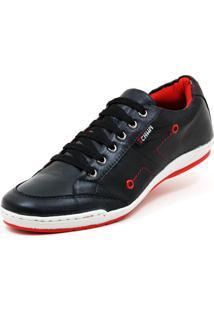 Sapatênis Moderno Casual Tchwm Shoes Preto/Vermelho