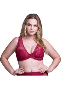 Sutiã Top Plus Renda Cereja| 534.183