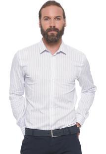 Camisa Forum Reta Listras Branca