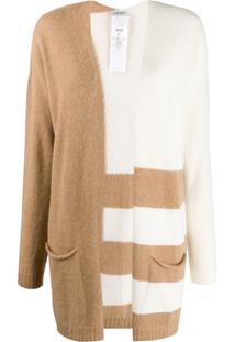 Liu Jo Contrast Striped Cardigan - Branco