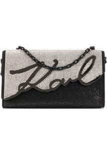 Karl Lagerfeld Bolsa Signature Baguette - Preto