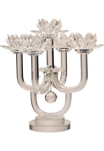 Castiçal De Cristal Drammen – 5 Velas