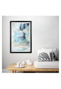 Quadro Com Moldura Chanfrada Abstract Blue 80X120