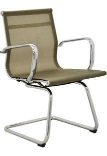 Cadeira Office Sevilha Fixa Tela Dourado Rivatti Verde - Dourado - Dafiti