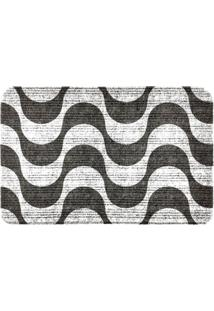 Capacho Carpet Ondas Chevron Cinza Único Love Decor