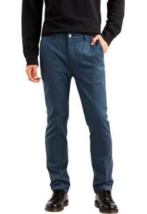Calça Chino 502 Levis Regular Taper Sta Prest Masculina - Masculino-Azul