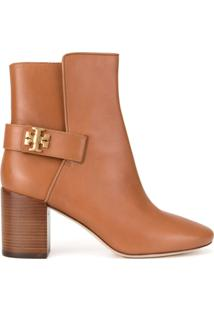 Tory Burch Ankle Boot Kira 70Mm - Marrom