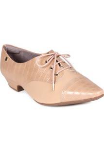 Sapato Oxford Feminino Piccadilly Nude