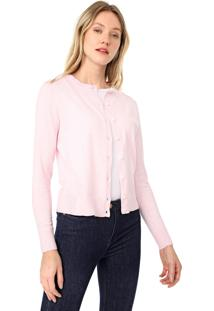 Cardigan Banana Republic Tricot Stretch-Cotton Rosa