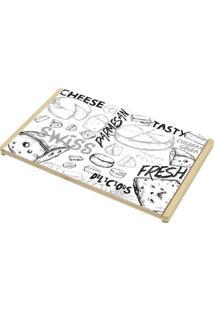 Bandeja Cheese- Preto & Marrom Claro- 32X20Cmlyor