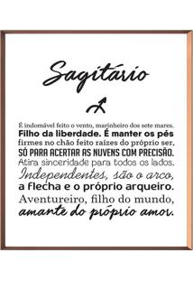 Quadro Decorativo Sagitã¡Rio- Ros㪠Gold & Branco- 50Xarte Prã³Pria