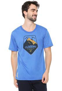 Camiseta Eco Canyon Climbing Azul