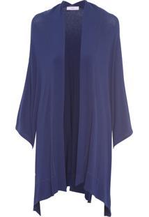 Casaco Feminino Malha - Azul
