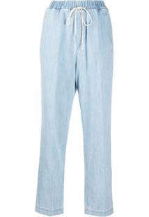 Forte Forte Calça Jeans Reta Com Ajuste No Cós - Azul