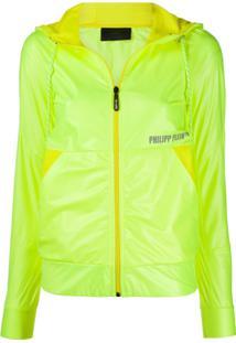 Philipp Plein Jaqueta Corta-Vento Com Logo - Amarelo