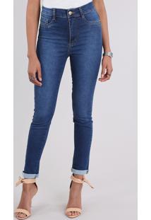 Calça Jeans Sawary Super Skinny Azul Médio