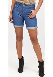 Bermuda Jeans Com Tag- Azul- Tritontriton