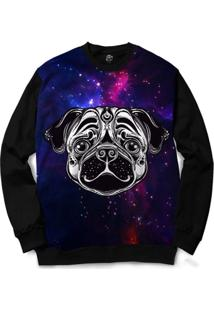 Blusa Bsc Pug Color Full Print - Masculino