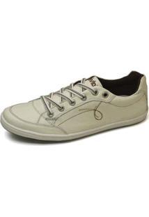 Sapatenis Top Franca Shoes Masculino - Masculino-Bege