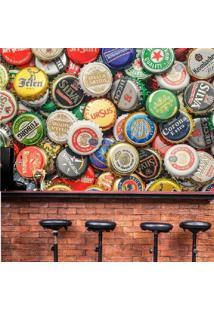 Painel Adesivo Tampinhas De Cervejas