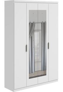 Guarda-Roupa Casal Com Espelho Alonzo 4 Pt 3 Gv Branco