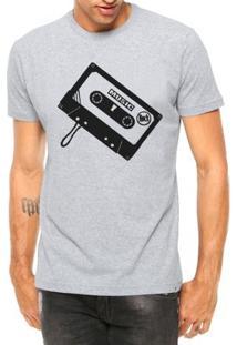Camiseta Criativa Urbana Toca Fita Manga Curta - Masculino-Cinza