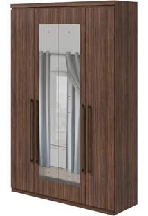 Guarda Roupa Alonzo New 4 Portas Com Espelho Imbuia Naturale