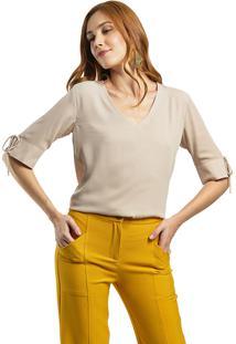 Blusa Mx Fashion Frente Dupla Dakota Bege