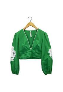 Blusa Carmim Verde Feminina Carmim Verde