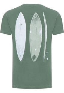 Camiseta Masculina Stone Surfboards - Verde