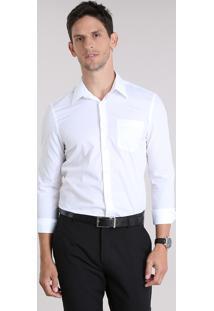 Camisa Comfort Texturizada Off White