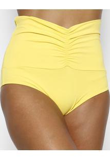 Calcinha Hot Pant Com Franzidos- Amarela- Arsiéarsie