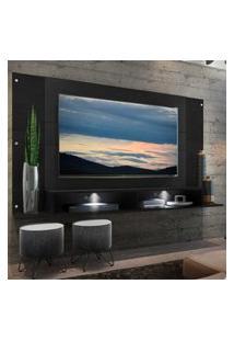 "Painel Tv 60"" Com 2 Leds Veneza Multimóveis Preto"