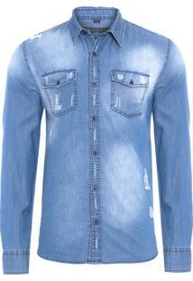 Camisa Masculina Love Battle - Azul