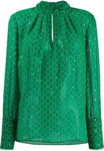 Ba&Sh Blusa Com Estampa Cabri Verde