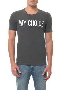 Camiseta Ckj Mc Estampa My Choice Preta Camiseta Ckj Mc Estampa My Choice - Preto - Ggg