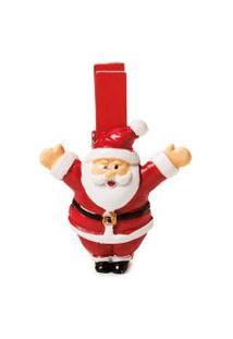 Prendedor Papai Noel Decoraçáo Natal Com 4Cm Cor Vermelho