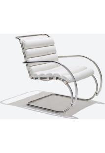 Cadeira Mr Cromada (Com Braços) Tecido Sintético Verde Água Dt 01025486