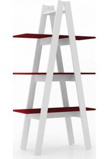 Estante Retrã´ Ii Branca E Vermelha