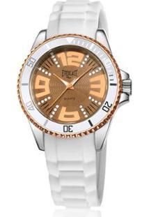 Relógio Everlast Silicone Feminino - Feminino-Branco