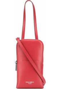 Dolce & Gabbana Bolsa Com Estampa De Logo - Vermelho