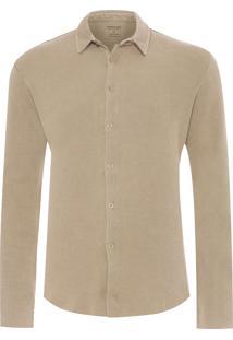 Camisa Masculina Used Knit - Marrom